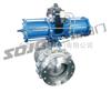Q6S41M/PPL型气动带手轮整体高温球阀